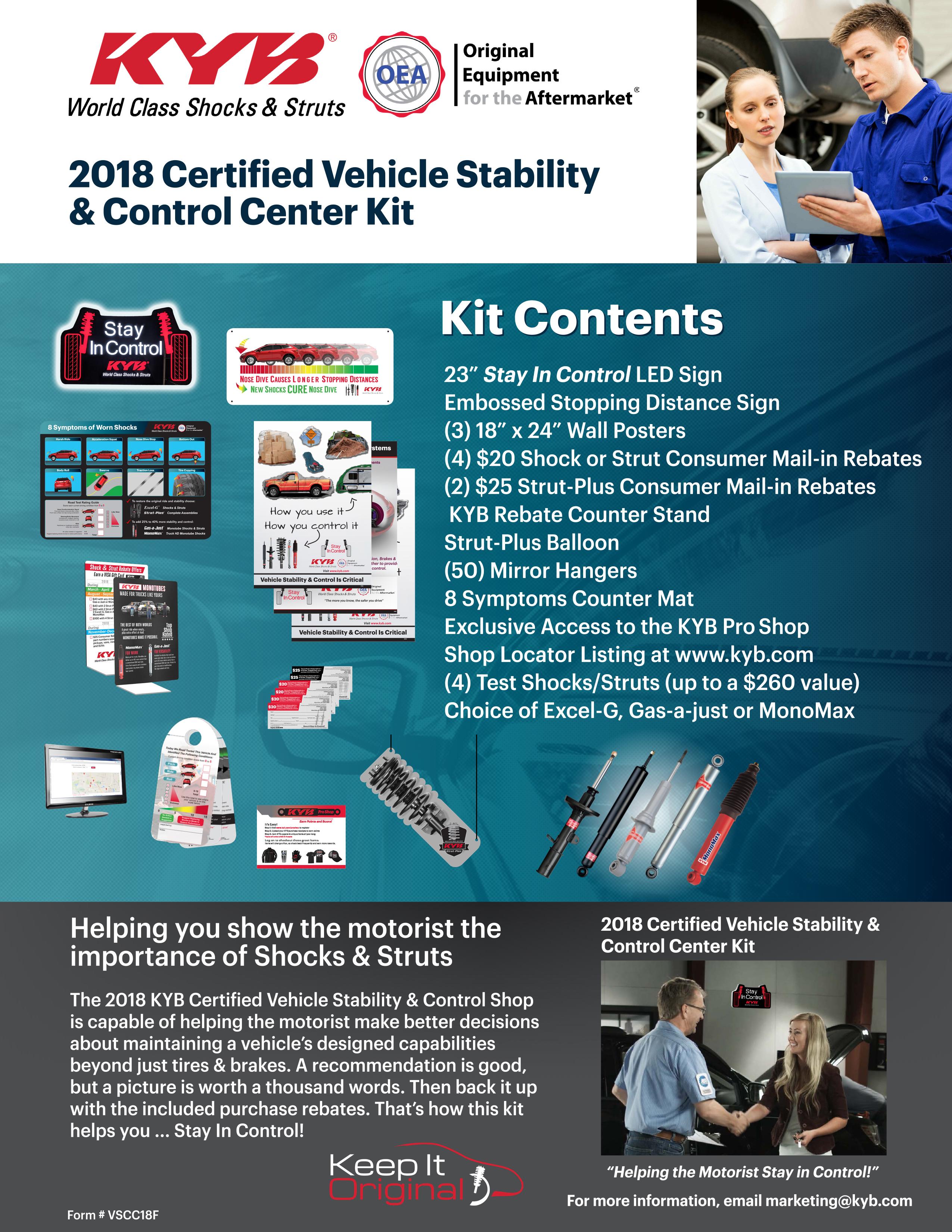 2018 VSCC Kit Contents