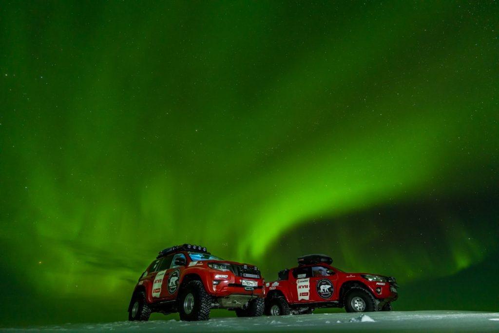 Trucks w/ Aurora Borealis
